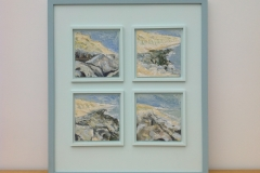 COAST AT BARTON on SEA. Oil Sketches on Panels.