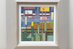 Hengistbury Head. [SOLD]. 30cm square inc.frame.