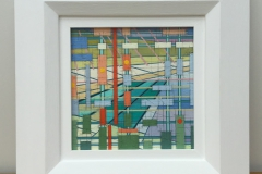 BARTON-ON-SEA COASTLINE [SOLD]. 30cm x 30cm inc. frame.