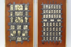 MACROPROCESSOR 1 AND 2 [SOLD]. Wood, Metal %26 Bone. 50 x 28 cm each.