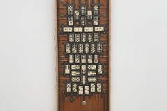 "MACROPROCESSOR NO. 3. Wood, bone and metal. 26"" x 10""."