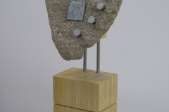 FACE [SOLD]. Wood, Stone and Metal.