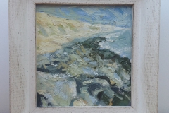 CLIFFS AND ROCKS AT BARTON-ON-SEA [SOLD]. Oil Sketch no. 2.