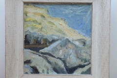 CLIFFS AND ROCKS AT BARTON. [SOLD]. Oil sketch no.4.