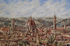 FLORENCE, ITALY. Oil painting on board 24 x 18 inches.