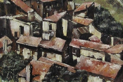 LES BAUX, PROVENCE [SOLD]. Oil on canvas 16 x 12 inches.