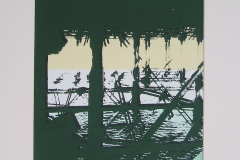 THE PIER [SOLD]. Screenprint 1. 12 x 8 inches.