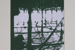 THE PIER. Screenprint 3. 12 x 8 inches.