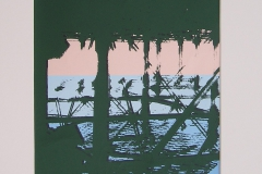 THE PIER [SOLD]. Screenprint 4. 12 x 8 inches.