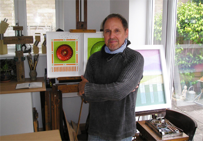 Jon Robins in his studio, 2013.